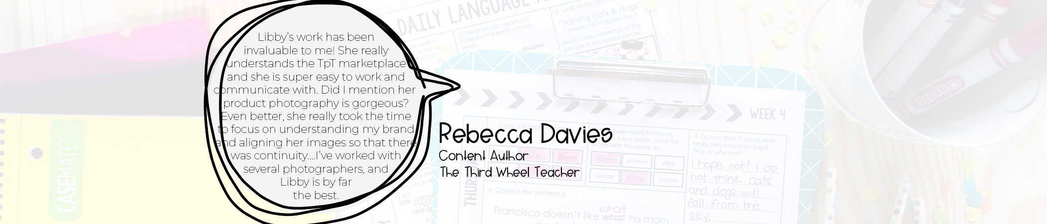 testimonial third wheel teacher Teachers Pay Teachers review photography design content products pinterest social media